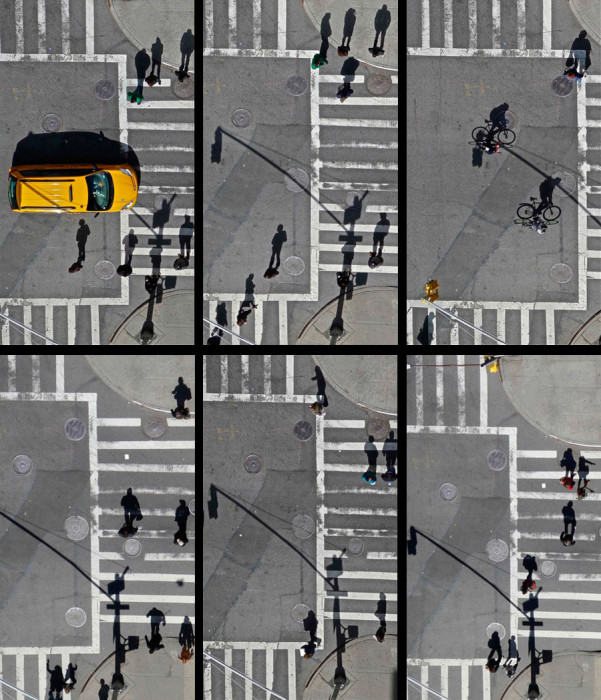 Cross Walk Shadows exhibition